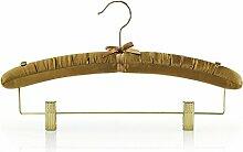 10 Gepolsterte, goldene Kleiderbügel mit Clips - 41cm