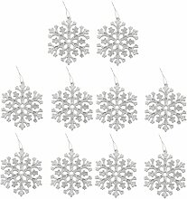 10 Glitter Schneeflocke Form