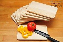 10 Grill PREMIUM-Grill-Schneidebrettchen Holz NATUR, Universal-Küchenbrett Set, groß mit abgerundeten Kanten, je ca. 22 cm x 14 cm als Bruschetta-Servierbrett, Brotzeitbrett mit Griff, NEU Bayerisches Brotzeitbrettl, Bruschetta-Pita-Döner-Naan-Roti-Ciabatta-Langos-Chubz-Servierbretter,Massive Grill-Schneidebretter, Anrichtebretter, Brotzeitbretter, Steakteller schinkenbrett rustikal, Schinkenteller von BTV