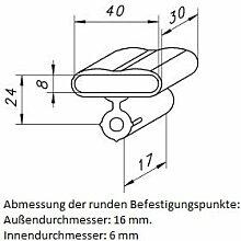 10 Kautschukkappen in grau mit befestigungs Lasche 10er Paket viele Varianten (40x30x8 mm Breite x Tiefe x Höhe (Einzelkappe))