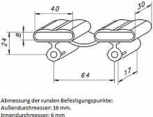 10 Kautschukkappen in grau mit befestigungs Punkten 10er Paket viele Varianten (40x30x8 mm Breite x Tiefe x Höhe (Duo-Kappe)))