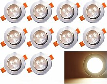 10 LED Einbaustrahler Schwenkbar 230V Einbauspot