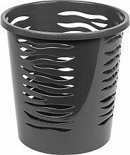 10 Liter Papierkorb Abfalleimer Mülleimer Kunststoff Papierabfall anthrazi