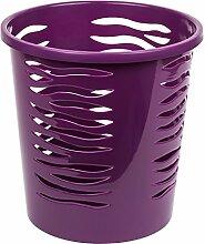 10 Liter Papierkorb Abfalleimer Mülleimer Kunststoff Papierabfall Eimer viole
