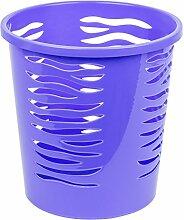 10 Liter Papierkorb Abfalleimer Mülleimer Kunststoff Papierabfall Eimer blau