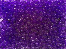10 Liter Wasser Bällchen Kugeln Dekoration Perlen über 4.000 Stück (100Gramm) - Pflanzen Blumen Dekoration Tischdeko Deko (Violett)