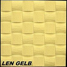 10 m2 Deckenplatten Styroporplatten Stuck Decke Dekor Platten 50x50cm, LEN GELB