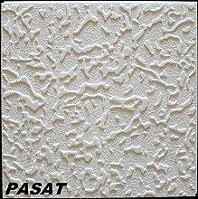 10 m2 Deckenplatten Styroporplatten Stuck Decke Dekor Platten 50x50cm, PASAT