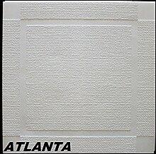 10 m2 Deckenplatten Styroporplatten Stuck Dekor Platten 50x50cm, ATLANTA