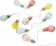 10 mehrfarbig LED Leuchtgirlande Glühbirnen L163