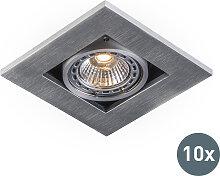 10 moderne Einbaustrahler Aluminium 3 mm stark -
