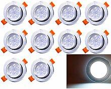 10 Pack 5W LED Einbaustrahler Schwenkbar Kaltweiß