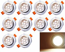 10 Pack 7W LED Einbaustrahler Schwenkbar Warmweiß