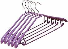 10-Pack Anti-Rutsch Kunststoff Metall Kleiderbügel Erwachsene Anzug Hose Kleiderbügel, #21 Lila