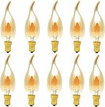 10 Pack C35 4W Dimmbar Glühfaden LED Kerze Lampe,