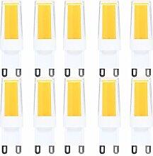 10 PACK G9 LED Lampe,4W,Warmweiß 3000K,G9 COB LED