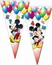 10 Partytüten * MICKEY MOUSE * von Disney // CONO // Party Kinder Party Mottoparty Kindergeburtstag Mitgebsel Geschenktüten Tüten