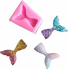 10 PCS Fondant Mermaid Fishtail