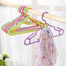 10 pcs/Los 29 cm Kind Kleiderbügel baby Kleiderbügel für kleiderständer Kleiderbügel Kleidung Unterstützung versuchen kleine Kleider hängen, Lila, S