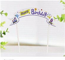 10PCS/LOT Wimpelkette Happy Birthday Cupcake