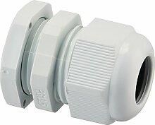 10PCS PG13,5weiß Kunststoff wasserdichten Steckern Kabelverschraubungen