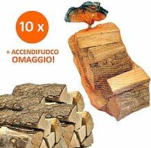 10Säcke 15kg Brennholz 100% Buche 150kg