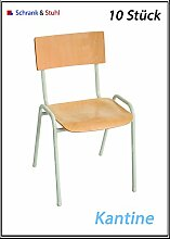 10 Stapelstühle Retro Stuhl Stapelstuhl Retrostuhl Konferenzstühle Kantinenstuhl