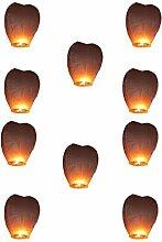 10 Stck.Wilai-Kong Ming,Lampions,Himmelslaterne, 60/105cm