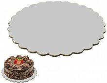 10 STK. Cake Board Cake Drum gewellt beschichtet