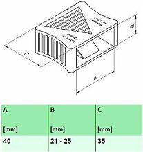 10 Stk. Härteverstellungsschieber für Lattenroste 10er Paket (40x21-25x35 mm (A x B x C))