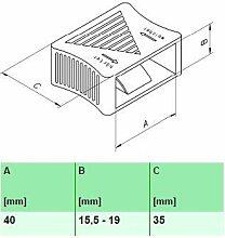 10 Stk. Härteverstellungsschieber für Lattenroste 10er Paket (40x15,5-19x35 mm (A x B x C))