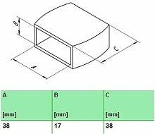 10 Stk. Härteverstellungsschieber für Lattenroste 10er Paket (38x17x38 mm (A x B x C))