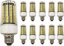 10 Stück 18W E27 LED Mais Birne Beleuchtung