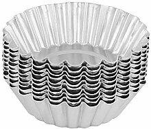 10 Stück Aluminiumlegierung Eierkuchenform 70mm