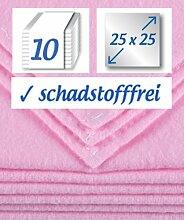 10 Stück Baby Molton Waschlappen (rosa)