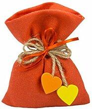 10Stück Beutel konfektschachtel Baumwolle natur orange Dekoration ausgeschlossen