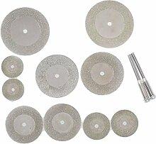 10 Stück Diamant Schleifscheibe Dremel Cutting Discs für Rotierende Werkzeuge