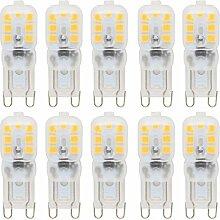 10 Stück Dimmbar G9 LED Lampe 2.5W AC 220-240V