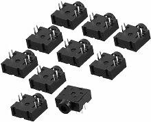 10 Stück DIP PCB Befestigung 5 Spins Female 2.5mm Stereo Audio Klinkenbuchse