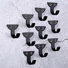 10 Stück Eisen Wandhaken Metall dekorative