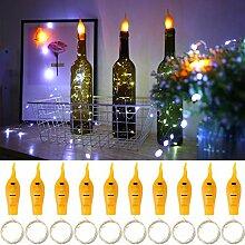 10 Stück Flaschen Licht 20 LED Lichterkette