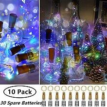 (10 Stück) Flaschenlicht Batterie,