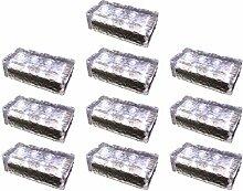 10 Stück FUCHS Solar Pflasterstein in kaltweiss