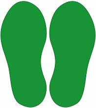 10 Stück Fußbodenaufkleber Fußpaar (Gesamt 20