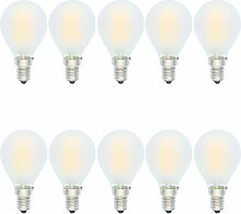 10 Stück G45 4W Dimmbar Glühfaden E14 LED