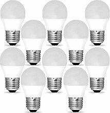 10 Stück G45 LED-Milchlampen mit E27-Gewinde mit