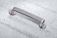 10 Stück GedoTec® Edelstahl Möbelgriff 128 mm Stangengriff LORE für Küchenladen & Schranktüren |157 x 27 x BA 128 mm | Schrankgriff Edelstahl-Optik | Moderner Küchen-Griff massiv | Markenqualität für Ihren Wohnbereich