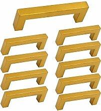 10 Stück Goldenwarm Möbelgriffe 96mm