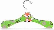 10 Stück - Kinderbügel aus Holz - Motiv Fuchs