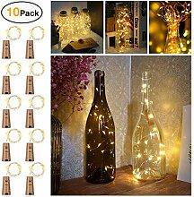 10 Stück LED Flaschenlicht, Sanniu 20 LEDs 2M